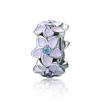 Sterling silver spacer Orchid SCC601