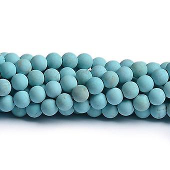 Nitką 32 + turkus magnezytu 10mm gładkie matowe koraliki CB49396-4