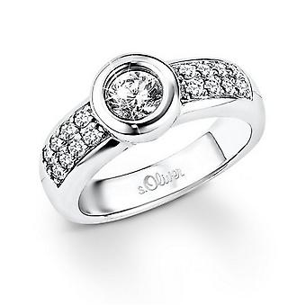 s.Oliver Jewel ladies ring silver Zirkonia SO827