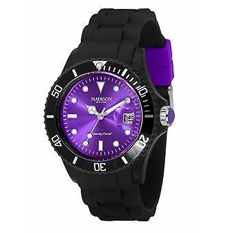 Candy time by Madison N.Y.. watch unisex U4486-01-1 Purple