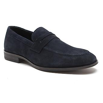Red Tape Avery Navy Suede Mens Driving Shoes
