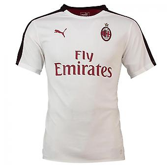 2018-2019 AC Milan Puma Stadium Jersey (hvit) - barn