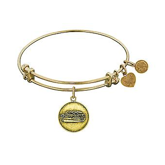 Smooth Finish Brass Noah's Ark Angelica Bangle Bracelet, 7.25
