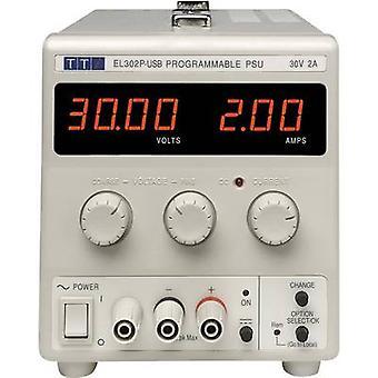 Aim TTi EL302P-USB Bench PSU (adjustable voltage) 0 - 30 Vdc 0 - 2 A 60 W No. of outputs 1 x