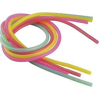 Reely Silicone hose set Inside diameter 2 mm Red, Purple, Green, Yellow