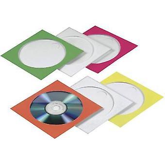 Hama CD caja 1 CD/DVD/Blu-Ray papel rojo, verde, Bl