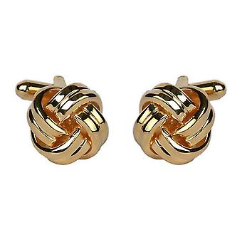 David Van Hagen Double Cord Cufflinks - Gold