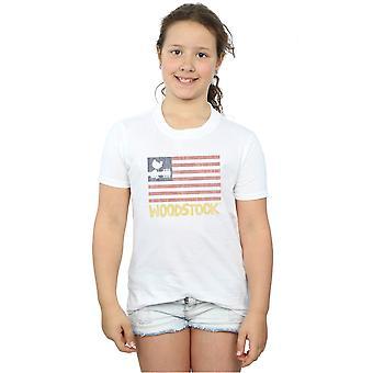 Woodstock Girls Distressed Flag T-Shirt