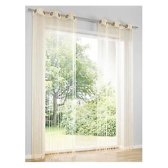 Heine Home Fadenstore Vorhang Raumteiler Insektenschutz sand Ösen H/B 245x95 cm
