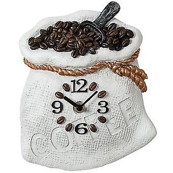 Wall clock wall clock kitchen watch quartz coffee sack stoneware body