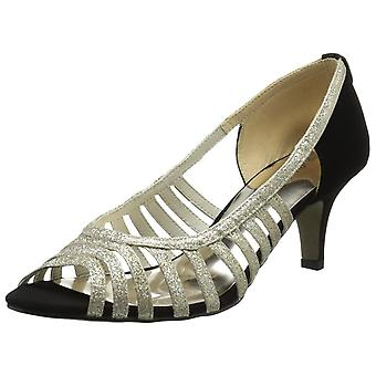 Easy Street Womens sparkle Open Toe Casual Ankle Strap Sandals