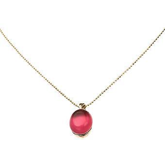 GEMSHINE damer halsband 925 Silver, guldpläterad eller röda fuchsia rose quartz ädelsten hänge - hållbar kvalitet smycken tillverkade i Spanien