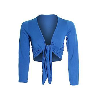 Женская длинный рукав галстук вверх цвет Болеро плечами женщин кардиган обернуть вверх