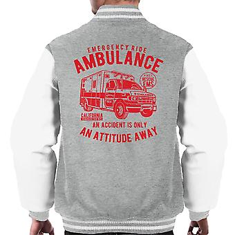 Emergency Ride Ambulance Retro Logo Men's Varsity Jacket