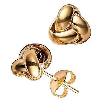 10k Yellow Gold Love Knot Post Stud Earrings, 6mm