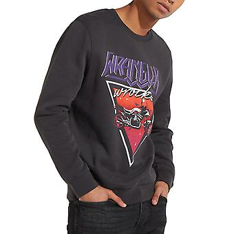 Wrangler Wrocks Mens Vintage Crewneck Long Sleeve Sweater Jumper Top