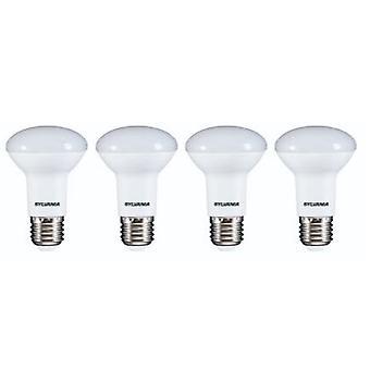 4 x Sylvania RefLED R63 V2 E27 7W varm hvit LED 630lm [energi klasse A +]
