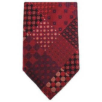 Knightsbridge Neckwear Multi modèle cercle Tie - rouge