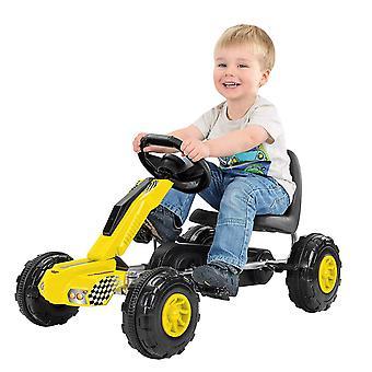 Toyrific Redline Ride de Go-Kart Racer sur avec colporte - jaune