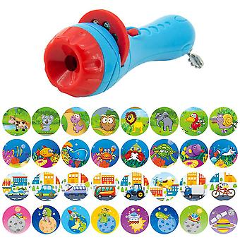 Kids Projector Flashlight Toy Story Projector slide Baby Sleep Story Early educational toys child sleep Lamp for Infant