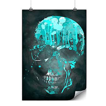 Matte or Glossy Poster with Skull Artsy | Wellcoda | *y703