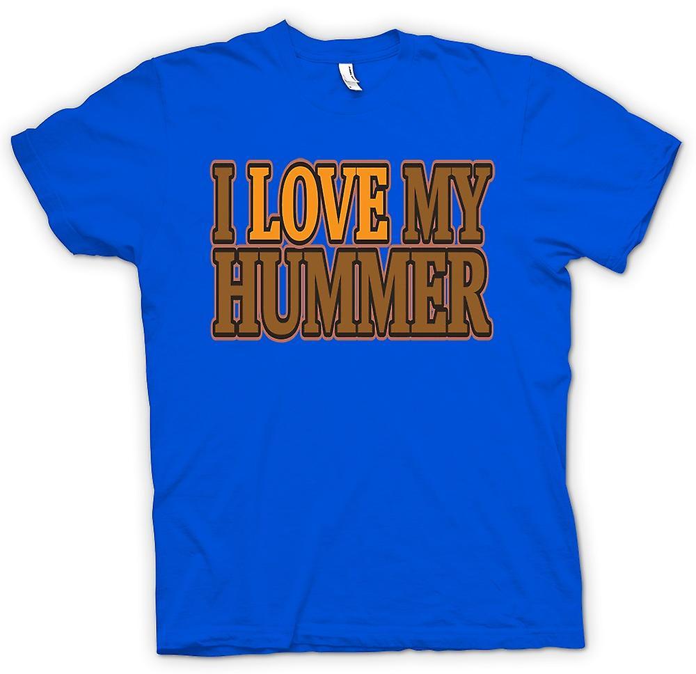 Mens t-skjorte - jeg elsker min Hummer - bilentusiast