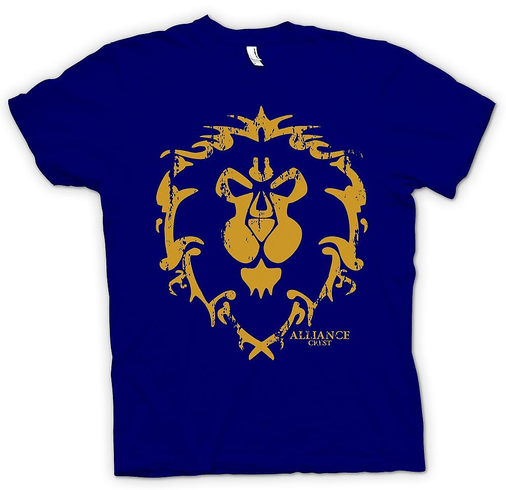 Mens T-shirt - Alliance Crest Logo - World Of Warcraft Inspired