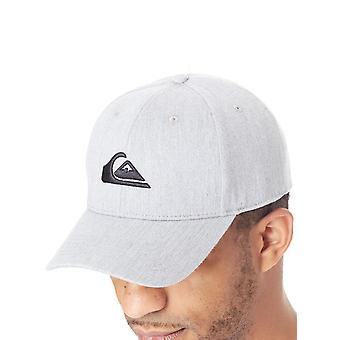 Quiksilver Medium Grey Heather decennia gebogen piek Snapback Cap