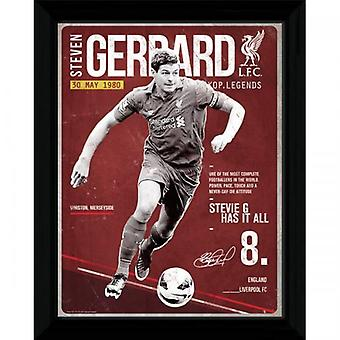 Liverpool Picture Gerrard Retro 16 x 12