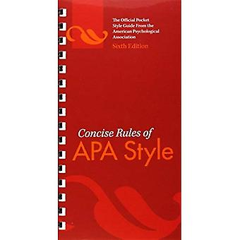 Concise Rules of APA Style (APA, Concise Rules of APA Style)