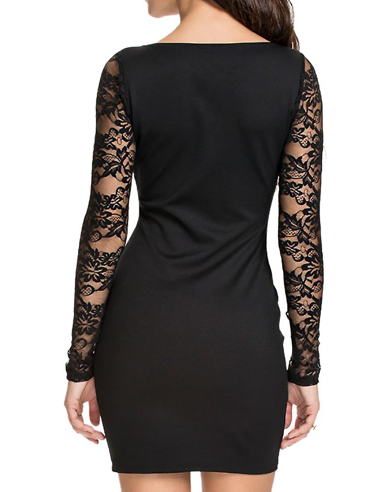 Waooh - In Short Dress Evening With Sleeves Lace Lite