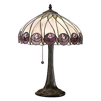 Hutchinson medio estilo Tiffany lámpara de mesa - interiores 1900 64177