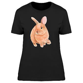 Niedlichen Häschen T-Shirt Damen braun-Bild von Shutterstock