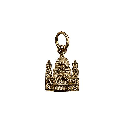 9ct Gold 11x10mm solid St. Paul's Cathedral Pendant or Charm