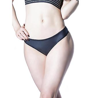Womens Plus Size Matte Wet Look Low Rise Classic Thong Underwear
