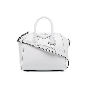 Givenchy Antigona Mini White Leather Shoulder Bag