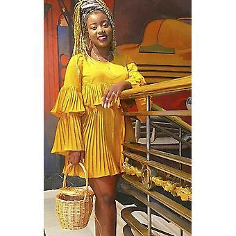 IKRUSH mujer Tessy volante vestido