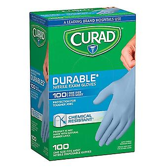 Curad powder-free exam gloves, nitrile, universal, 100 ea