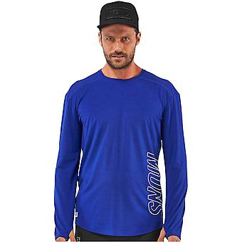 Mons Royale Electric Blue MTN X Long Sleeved Baselayer Top