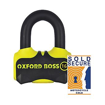Oxford Black-Yellow Boss16 Motorcycle Lock