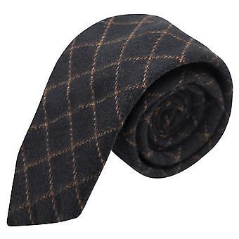 Luxury Oxford Blue Tattersall Check Tweed Tie