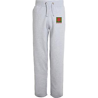 School Of Infantry Instructor - Licensed British Army Embroidered Open Hem Sweatpants / Jogging Bottoms