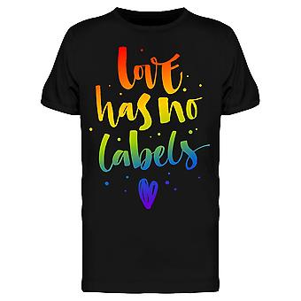 Love Has No Labels Graphic Tee Men's -Image by Shutterstock