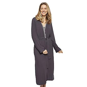 Cyberjammies 1330 Women's Nora Rose Nancy Grey Modal Long Robe