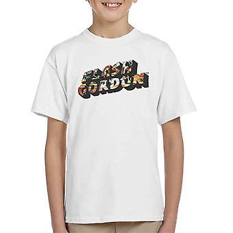 Flash Gordon Comic Montage Text Kid's T-Shirt