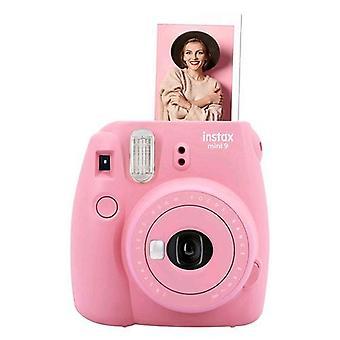 Fujifilm instax mini 9 camera instant mirror development for selfie close-up lens   flamingo pink