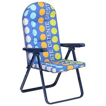 Alco Oval steel tube sunlounger 40x20 mm. blue 777AOR-0035 (Tuin , Anderen)