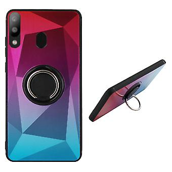 BackCover Ring / Magneet Aurora Samsung M20 Roze+Blauw
