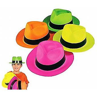 12 neon Gangster eller Safari hatte | Børnene fødselsdag fest hatte