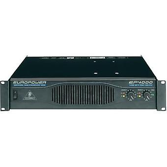 PA amplifier Behringer EP4000 RMS power per channel (at 4 Ohm): 950 W